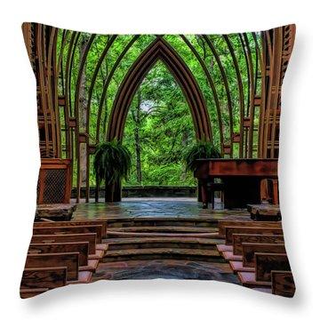 Inside The Chapel Throw Pillow