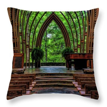 Inside The Chapel Throw Pillow