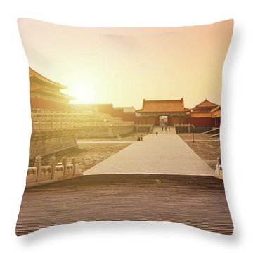 Inside The Forbidden City Throw Pillow