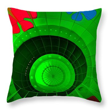 Inside The Green Balloon Throw Pillow