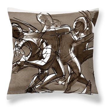 Interaction Throw Pillow