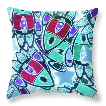 Intergalactic Abstract Throw Pillow
