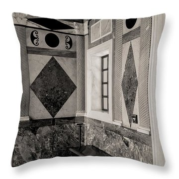 Interior Bw Getty Villa Throw Pillow
