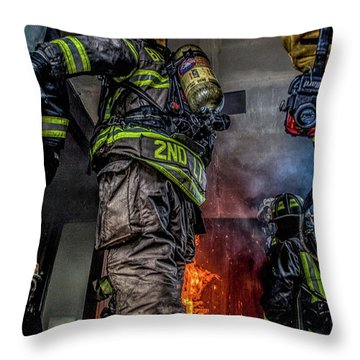 Interior Live Burn Throw Pillow