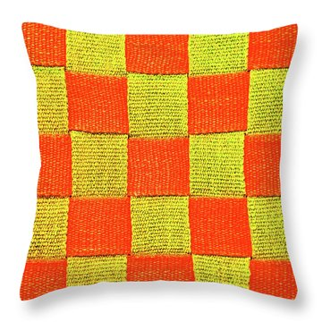Interlaced Canvas Straps 1 Throw Pillow