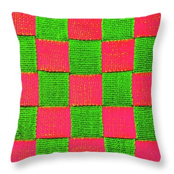 Interlaced Canvas Straps 2 Throw Pillow