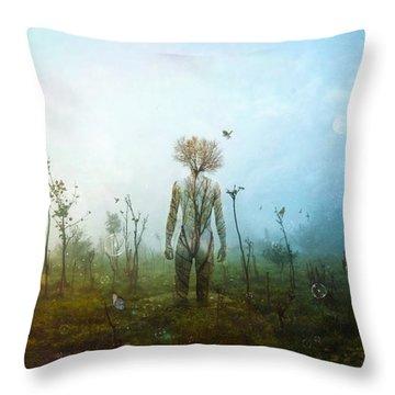 Internal Landscapes Throw Pillow