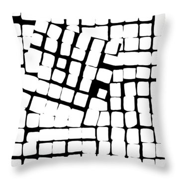 Throw Pillow featuring the digital art Internal Square by Attila Meszlenyi