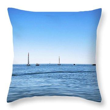 Into The Atlantic Ocean Throw Pillow