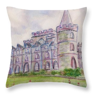 Inverary Castle Throw Pillow