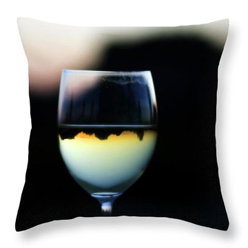 Inverted Landscape In Wine Glass Throw Pillow