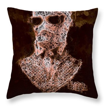 Throw Pillow featuring the mixed media The Invisible Man by Al Matra