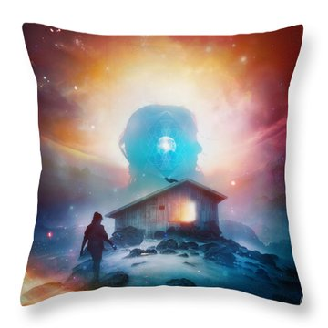 Invisible II Throw Pillow