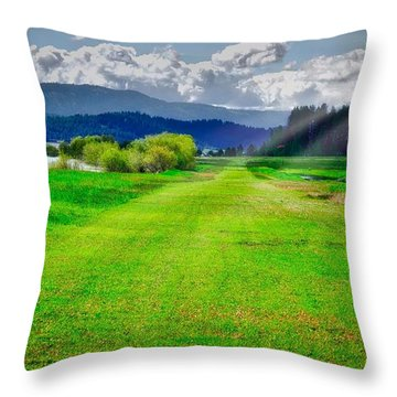 Inviting Airstrip Throw Pillow