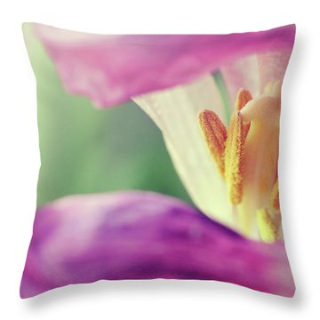 Throw Pillow featuring the photograph Inward Beauty by Michelle Wermuth