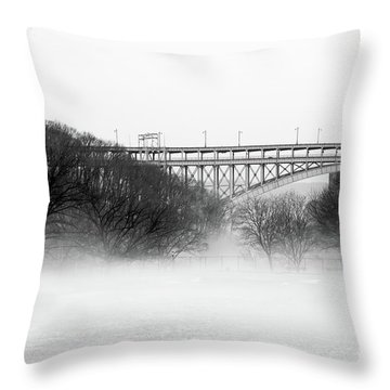 Throw Pillow featuring the photograph Inwood Hill With Fog by Cole Thompson