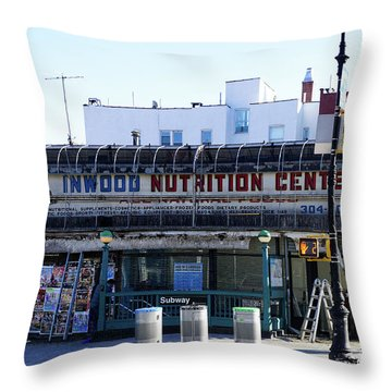Throw Pillow featuring the photograph Inwood Nutrition Center by Cole Thompson