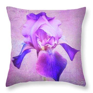 Pretty In Purple Iris Throw Pillow