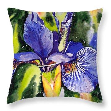 Iris In Bloom Throw Pillow
