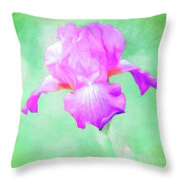 Iris Ready To Fly Throw Pillow