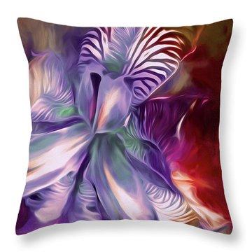 Iris Splendor 12 Throw Pillow