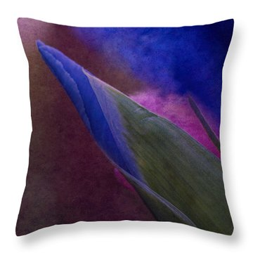 Iris To The Point Throw Pillow