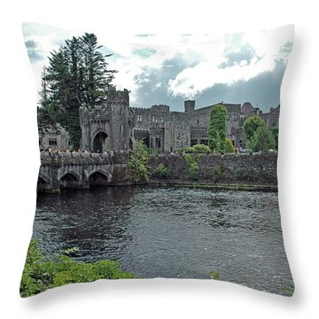 Throw Pillow featuring the photograph Irish Castle by Mark Duehmig