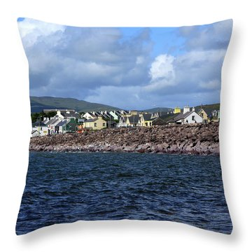 Irish Seaside Village, Co Kerry  Throw Pillow