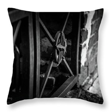 Iron Gate In Bw Throw Pillow