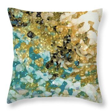 Throw Pillow featuring the painting Isaiah 26 3. In Perfect Peace by Mark Lawrence
