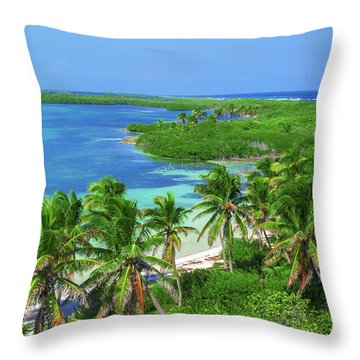 Isla Contoy Throw Pillow