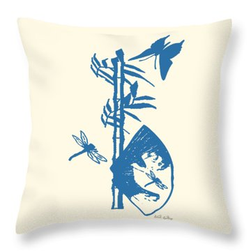 Throw Pillow featuring the painting Island Breeze by Belinda Landtroop