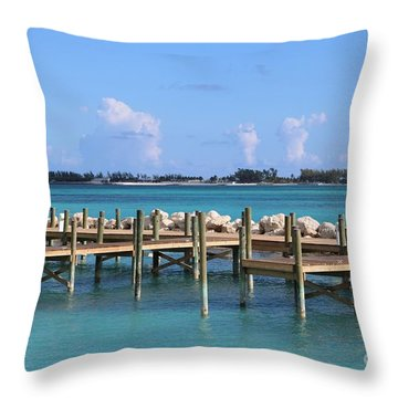 Island Paradise Throw Pillow