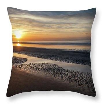 Isle Of Palms Morning Patterns Throw Pillow