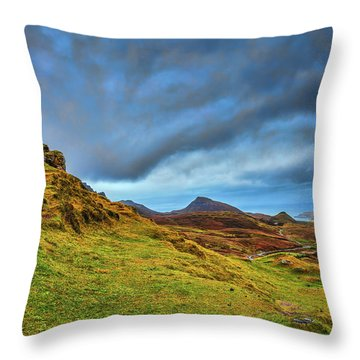 Isle Of Skye Landscape #i1 Throw Pillow