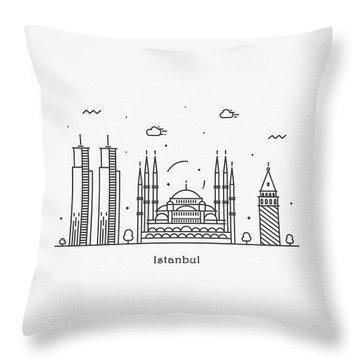 Turkiye Throw Pillows