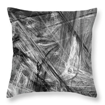 Throw Pillow featuring the digital art It Has Been A Busy Day by Angie Tirado