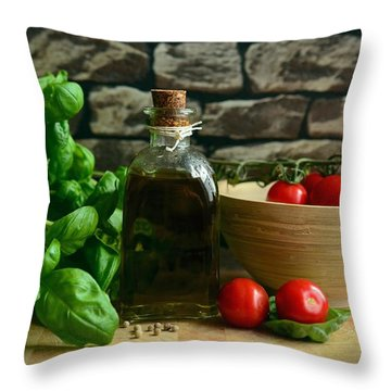 Italian Ingredients Throw Pillow
