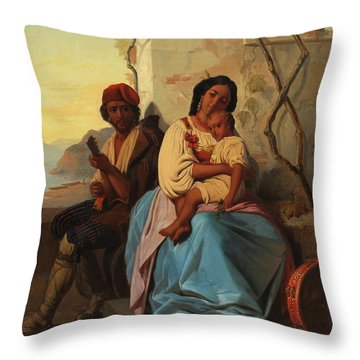 Italian Scene Throw Pillow