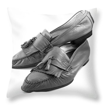 Italian Style Leather Shoes Throw Pillow