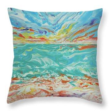 It's A Beach Day Throw Pillow