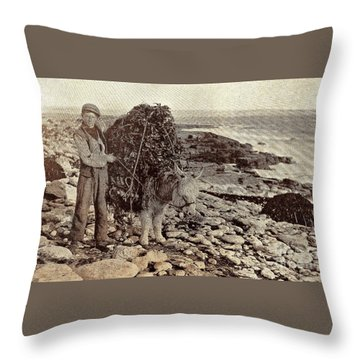 Throw Pillow featuring the painting Its A Long Long Way To America by Val Byrne
