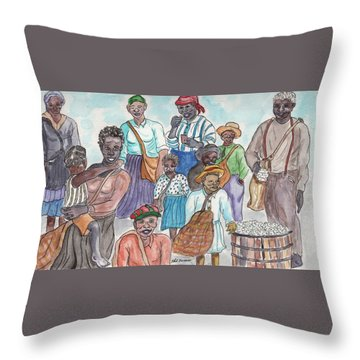 It's Cotton Picking Time At The Spangler Farm In South Alabama Throw Pillow