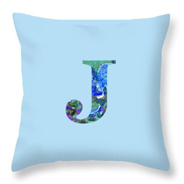 J 2019 Collection Throw Pillow