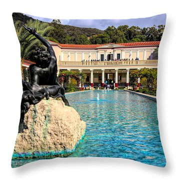 J Paul Getty Villa Pacific Palisades California Throw Pillow