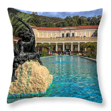 J Paul Getty Villa Pool Roman Culture California  Throw Pillow