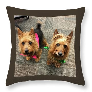 Jack And Lily Throw Pillow