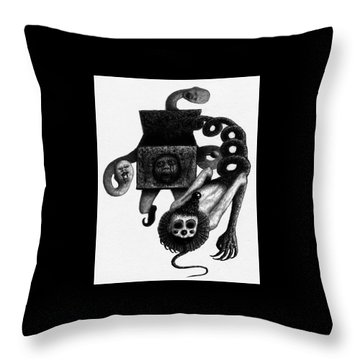Jack In The Box - Artwork Throw Pillow