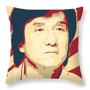 Jackie Chan Retro Propaganda Throw Pillow