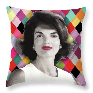 Throw Pillow featuring the painting Jackie Geometric by Carla B